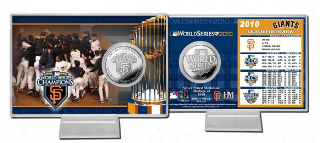 San Francisco Giants 2010 World Series Champions Silver Corner Card