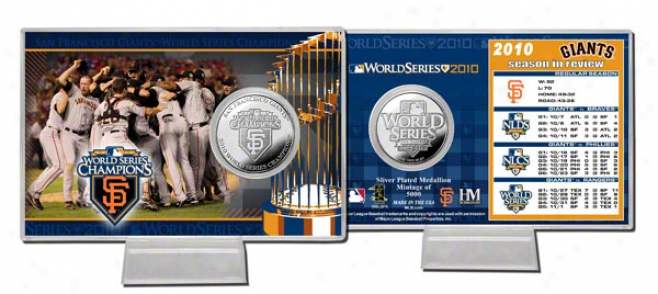 San Francisco Giants 2010 Life Series Champions Silver Plate Coin Card
