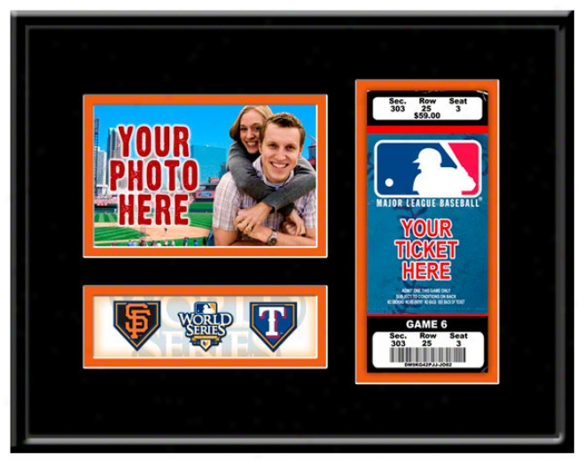 San Francisco Giants 2010 World Series Photo & Tiket Condition
