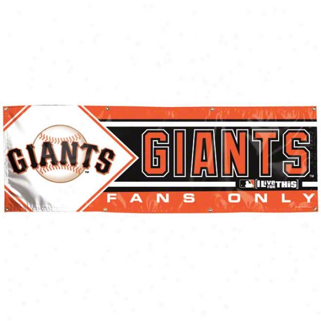 San Francisco Giants 2x6 Vinyl Banner