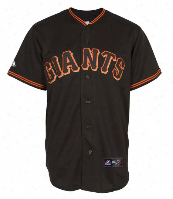 San Francisco Giants Alternate Black Mlb Replica Jersey