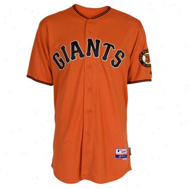 San Francisco Giants Alternate Orange Authentic Cool Baseã¢â�žâ¢ On-field Jersey Without World Series Patch