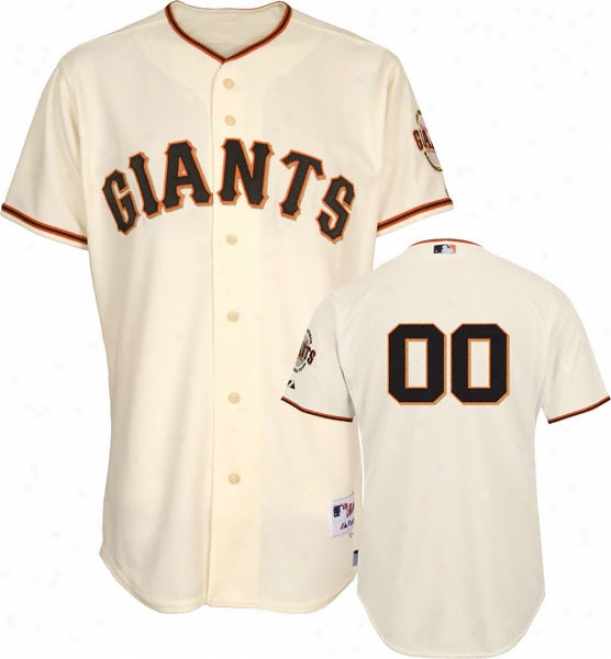 San Francisco Giants - Any Number - Authentic Impudent Baseã¢â�žâ¢ Home Ivory On-field Jersey Without World Series Patch