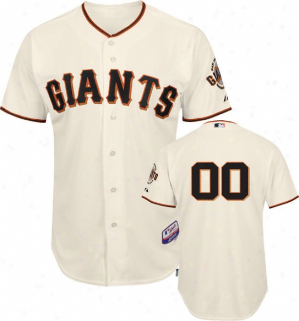 San Francisco Giants - Any Player - Genuine Cool Baseã¢â�žâ¢ Home Ivory On-field Jersey Withour World Series Tract