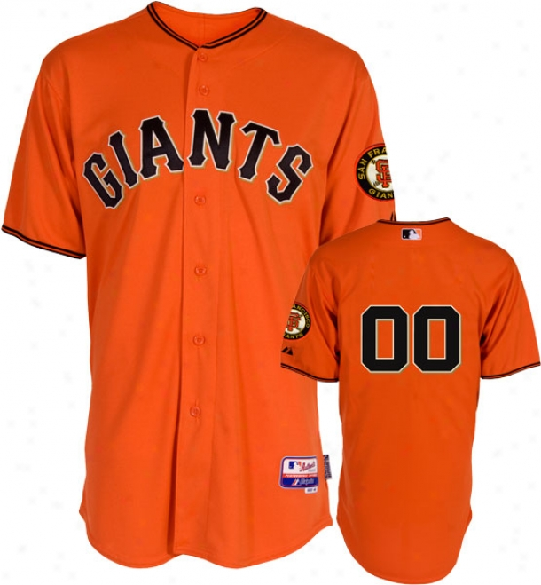 San Francisco Giants Jersey: Any Number Alternate Orange Authntic Cool Baseã¢â�žâ¢ On-field Jersey Without Life Series Patch