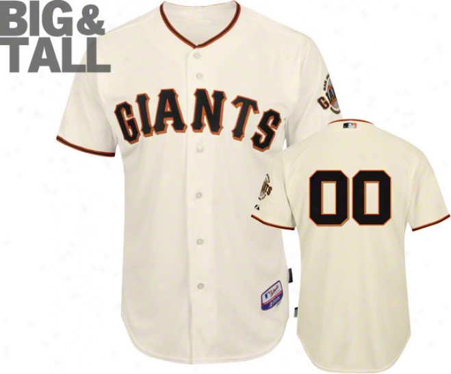 San Francisco Giants Jersey: Any Number Big & Tall Home Ivory Authentic Cool Baseã¢â�žâ¢ On-field Jersey Without World Series Patch