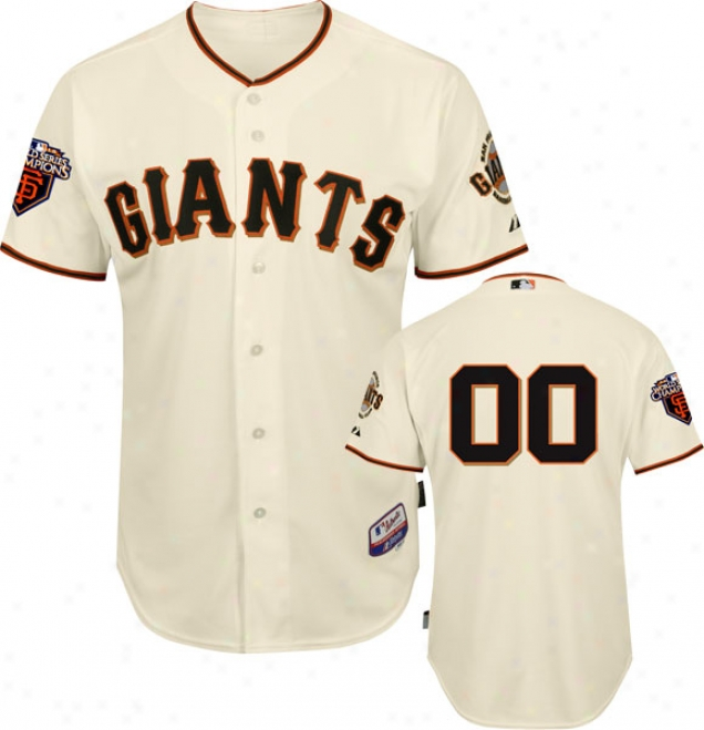San Francisco Giants Jersey: Any Number Home Ivory Authentic Cool Baseã¢â�žâ¢ On-field Jwrsey With World Series Commemorative Tract Worn In 2011