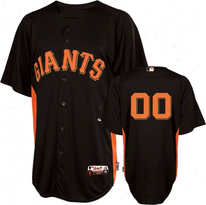 San Francisco Giants Jersey: Any Player Authentic Black On-field Battong Practice Jersey