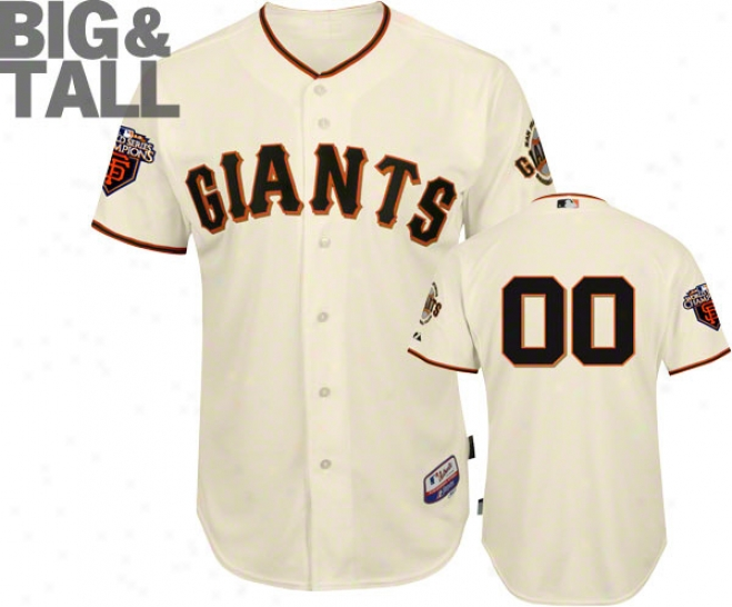 San Francisco Giants Jersey: Any Player Big & Tall Home Ivory Authentic Cool Base�␞� On-field Jersey With World Series Commemorative Patch Worn In 2011