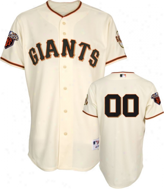San Francisc oGiants Jersey: Any Player Home Ivory Authentic On-field Jersey With World Series Commemorative Patch Wrn In 2011