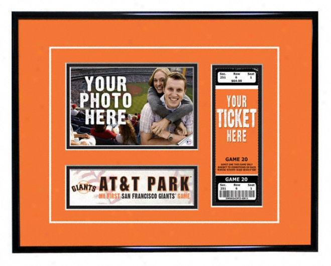 San Francisco Giants - Mt First Game - Ticket Frame