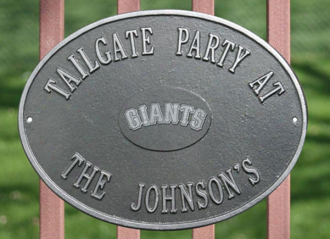 San Francisco Giants Pewter And Silver Personalized Indoor/outdoor Plaque