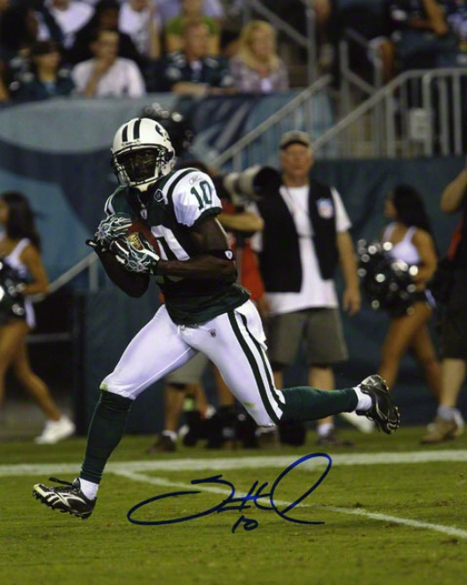 Santonio Holmes Autographed 8x10 Photograph  Particulars: New York Jets, Vertical