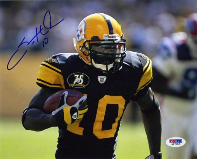 Santonio Hilmes Autographed Photograph  Details: Pit5sburgh Steelers, 8x10