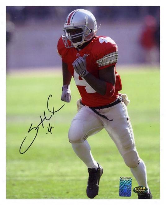 Santonio Holmes Ohio State Buckdyes Autographed 8x10 Photo