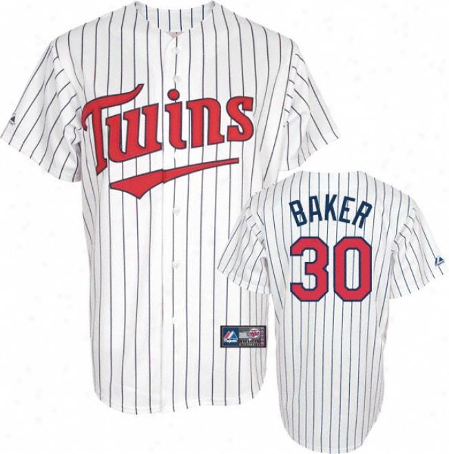 Scott Baker Jersey: Adult Majestic Home Pinstripe Replica #30 Minnesota Twins Jersey