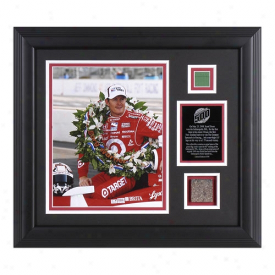 Scott Dixon - 2008 Indy 500 Winner - Framed 8x10 Phorograph With Race Used Flag And Brick Piece