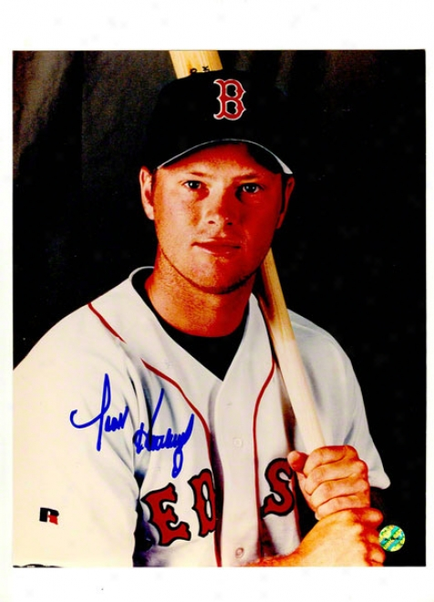 Scott Hatteberg Autographed Boston Red Sox 8x10 Photo