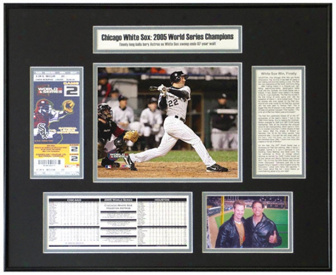 Scott Podsednik Chicago White Sox 2005 World Succession Champions World Series Ticket Frame