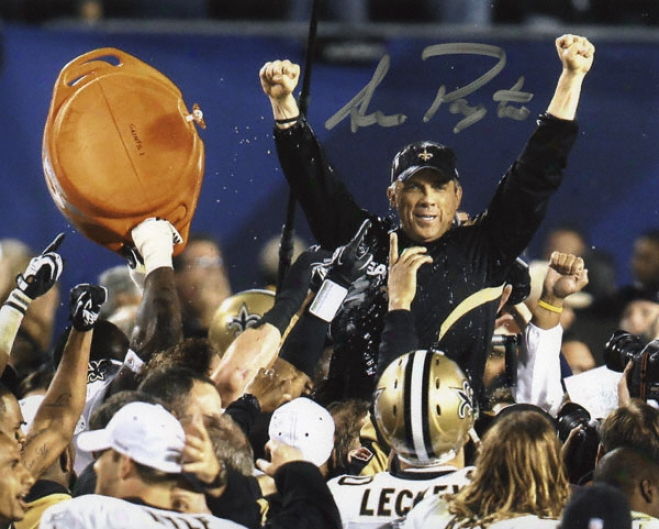 Sean Payton New Orleans Saints Sb Xliv Autographed 8x10 Photograph
