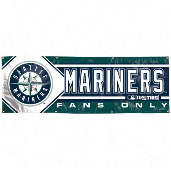 Seattle Mariners 2x6 Vinyl Banner