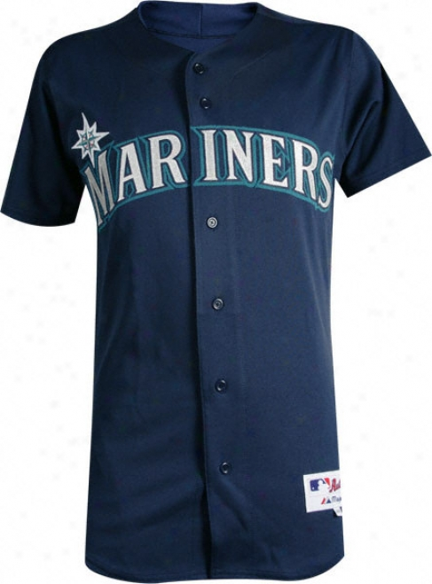 Seattle Mariners Alterntae Navy Authentic Mlb Jersey