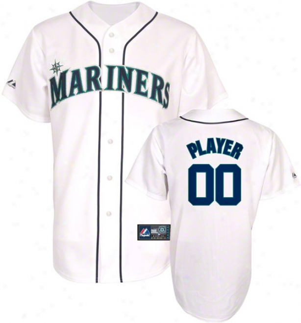 Seattle Mariners -any Player- Home Mlb Replica Jersey