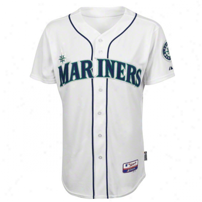 Seattle Mariners Home White Authentic Cool Baseã¢â�žâ¢ On-field Mlb Jersey