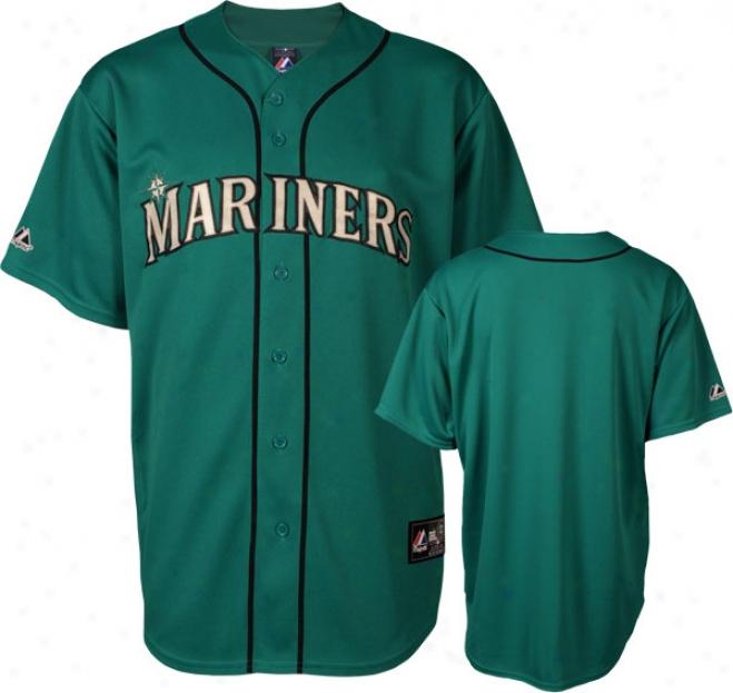Seattle Mariners Majestic 2011 Alternate Northwest Green Replica Mlb Jersey