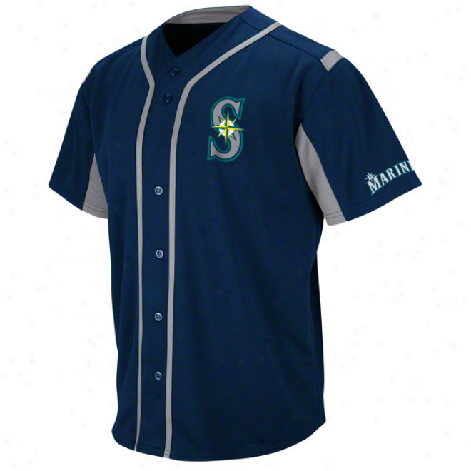 Seattle Mariners Navy Wind-up Jersey