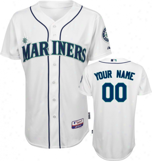 Seattle Mariners - Personalized With Your Name - Auuthentic Cool Baseã¢â�žâ¢ Home White On-field Jersey