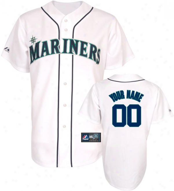Seattle Mariners -personalized With Your Name- Home Mlb Replica Jersey