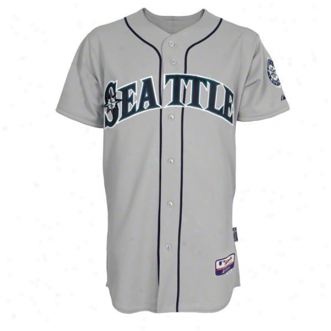 Seattle Mariners Road Grey Authentic Cool Baseã¢â�žâ¢ On-field Mlb Jersey