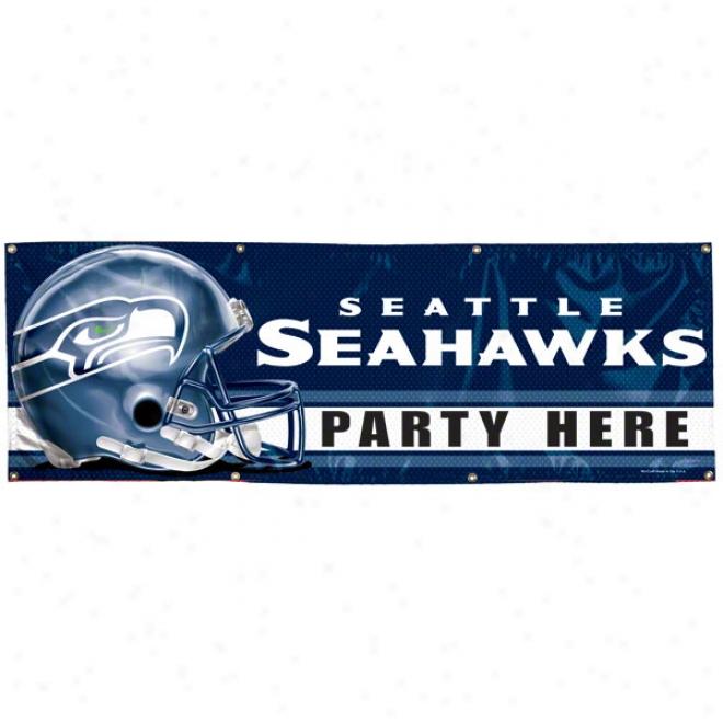 Seattle Seahawks 2x6 Vinyl Banner