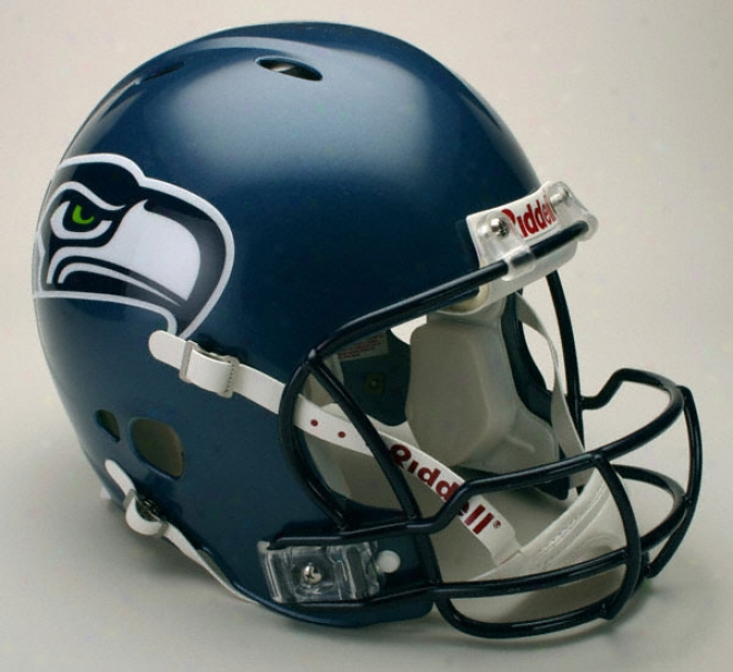 Seattle Seahawks Authentic Pro Line Revolution Riddell Full Size Helmet