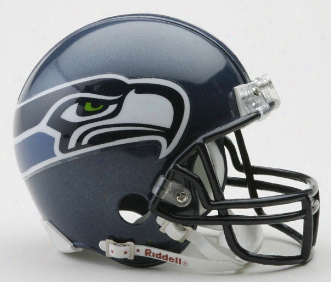 Seattel Seahawks Nfl Riddell Mini Helmet