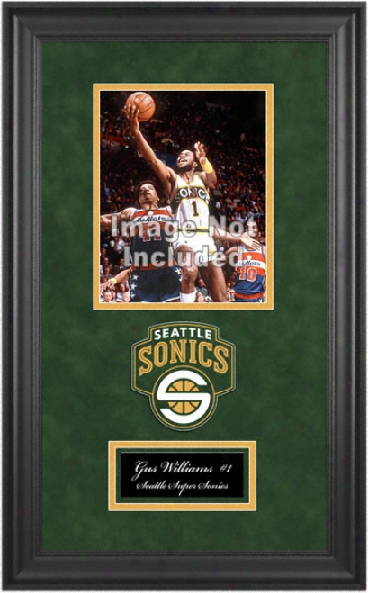Seattle Supersonics Deluxe 8x10 Team Logo Frame