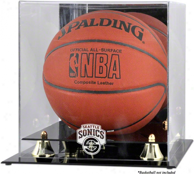 Seattle Supersonics Golden Classic Logo Basketball Display Case