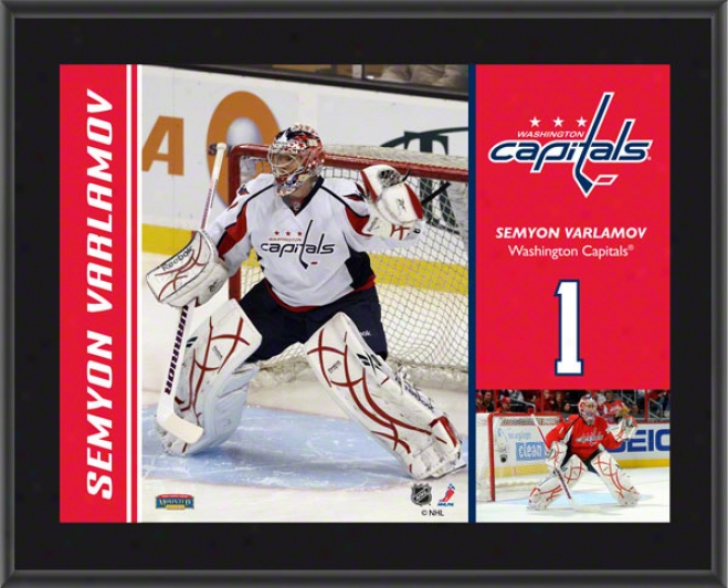 Seymon Varlamov Brooch  Details: Washington Capitals, Sublimated, 10x13, Nhl Plaque