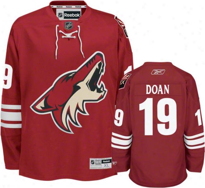 Shane Doan Jersey: Reebok Brick #19 Phoenix Coyotes Premier Jersey