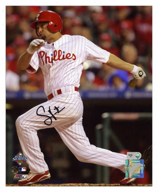 Shane Victorino Philadelphia Phillies - 2008 World Series Champions - Autographed 8x10 Photograph