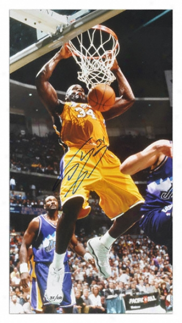 Shaquille O'neal Los Angeles Lakers Autographed 20x30 Photo Limited Ed. 250