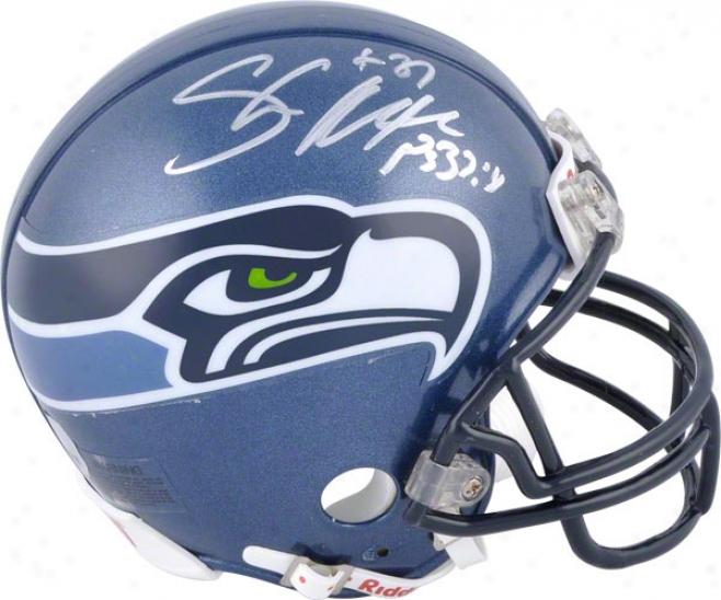 Shaun Alexander Seattle Seahawks Autogtaphed Mini Helmet