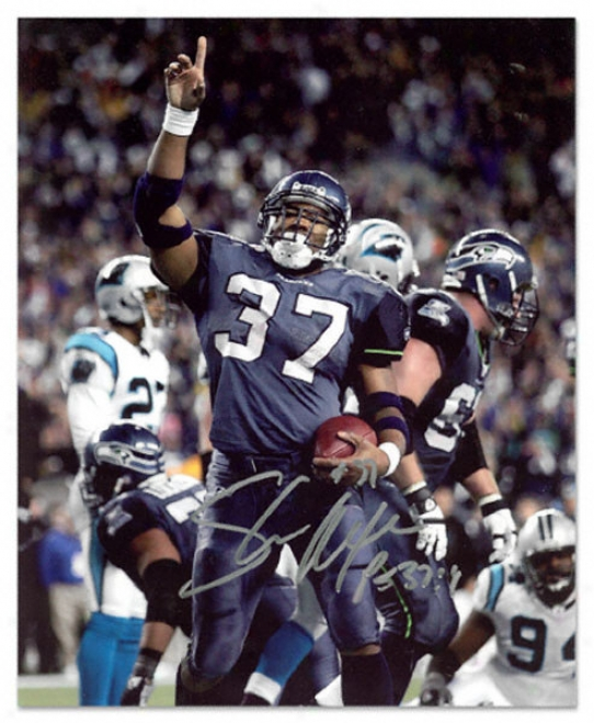 Shaun Alexander Seattle Seahawks - Va. Panthers - Autographed 8x10 Photograph