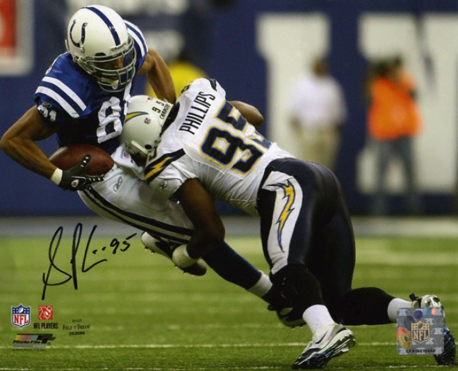 Shaun Phillips San Diego Chargers Autographed 8x10 Photograph