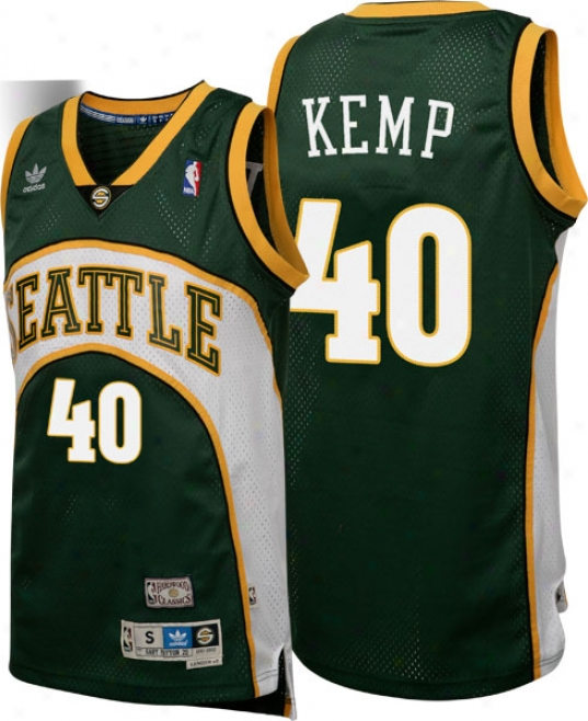 Shawn Kemp Adidas Swingman Seattle Supersonics Jersey