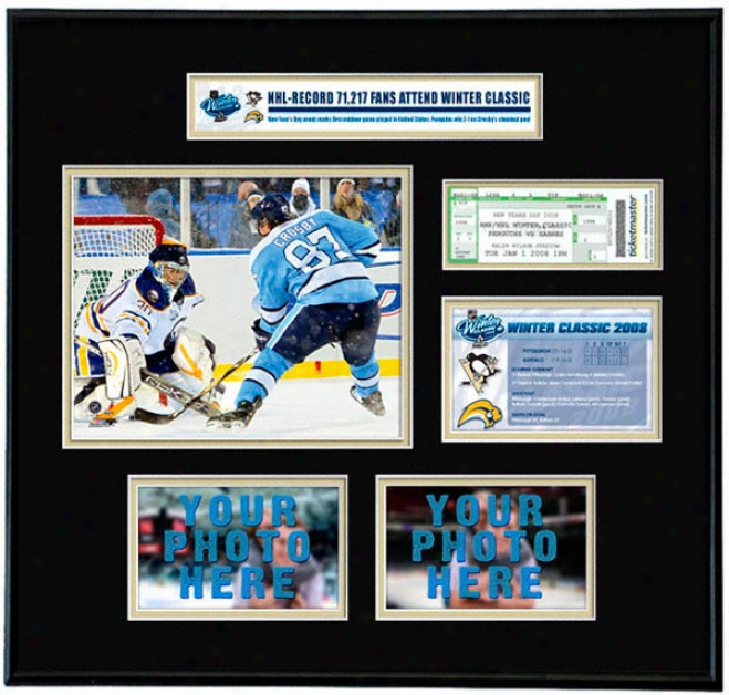 Sidney Crosby Pittsburgh Penguins - Nhl Winter Classoc - Ticket Frame