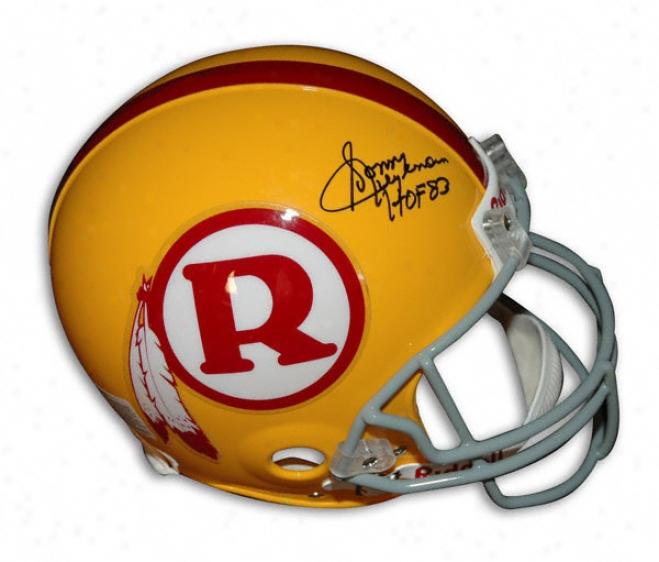 Sonny Jurgensen Autographed Pro-line Helmet  Details: Washngton Redskins, Yellow, Throwback, Authentic Riddell Helm