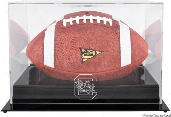 Sou5h Carolina Gamecocks Black Base Logo Football Display Case