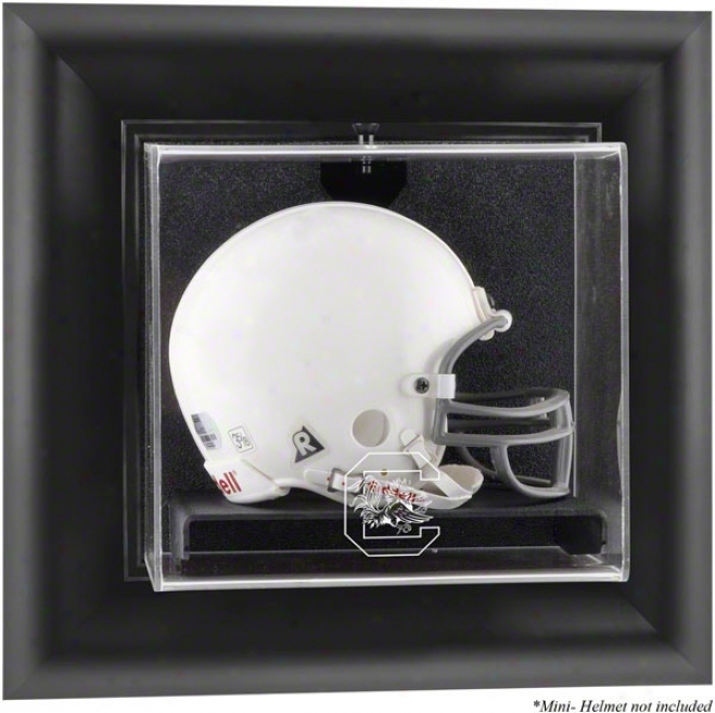 South Carolina Gamecocks Framed Wall Mounted Mini Helmet Logo Display Case